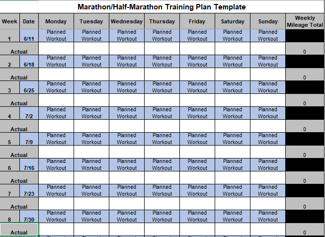 running workout tracker half marathon