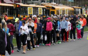 first half  marathon bus