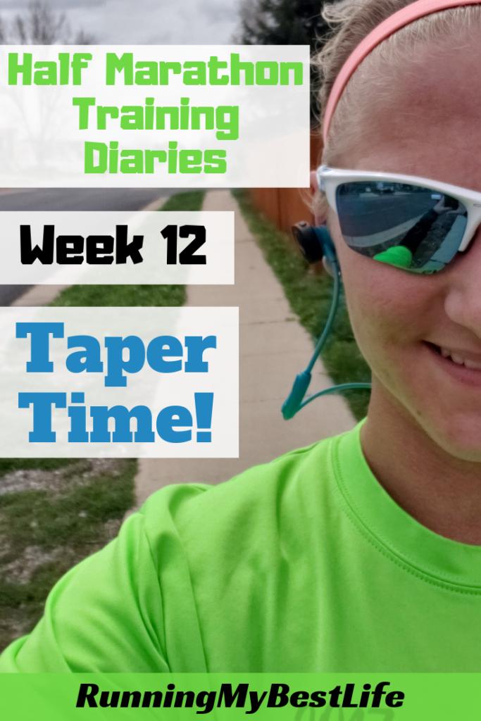 Half Marathon Training Diaries Week 12
