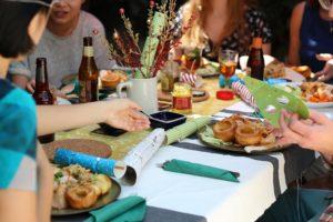 Post-race celebration meal