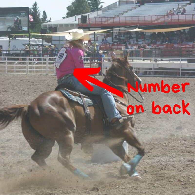 Rodeo number on back