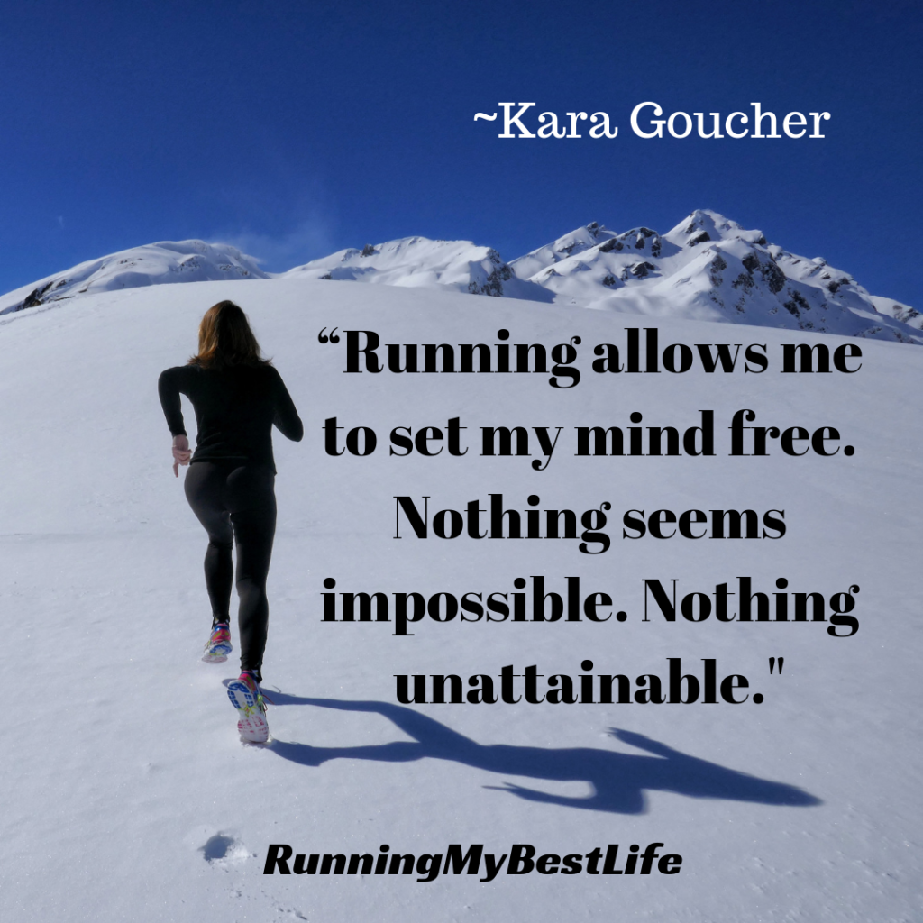 """Running allows me to set my mind free. Nothing seems impossible. Nothing unattainable."" Running Inspiration Motivation Quotes"