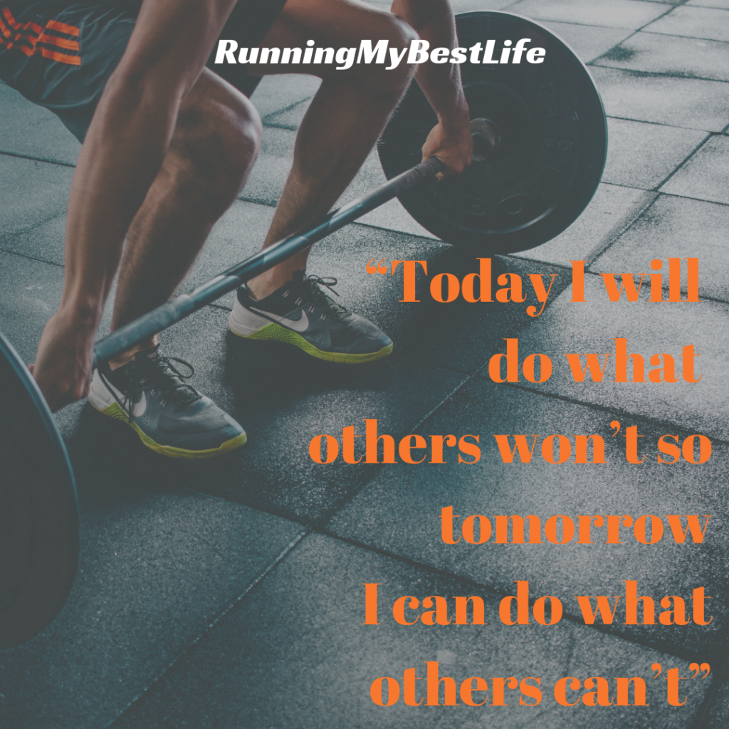 """Today I will do what others won't so tomorrow I can do what others can't"" Running Fitness Motivation Quotes"