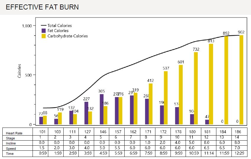 Effective Fat Burn Chart Metabolic Testing for Runners
